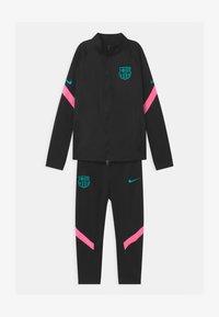 Nike Performance - FC BARCELONA SET UNISEX - Club wear - black/pink beam/new green - 0