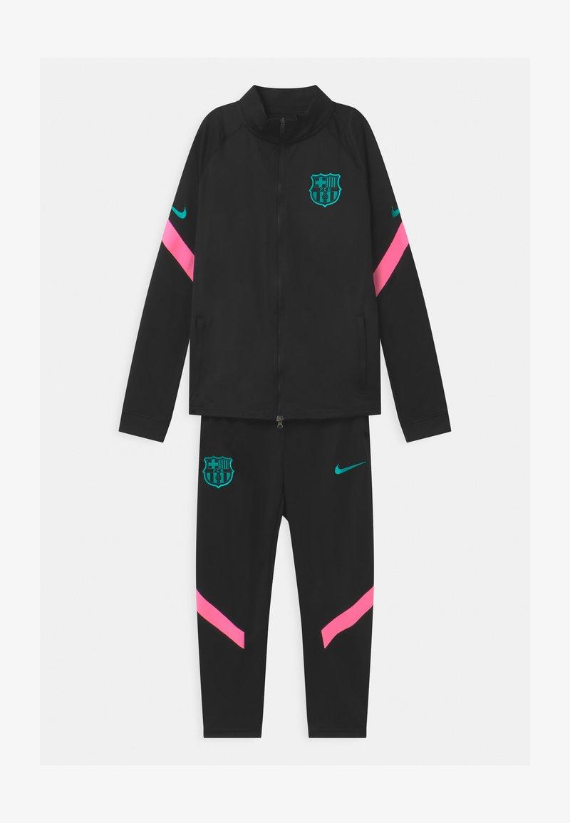 Nike Performance - FC BARCELONA SET UNISEX - Club wear - black/pink beam/new green
