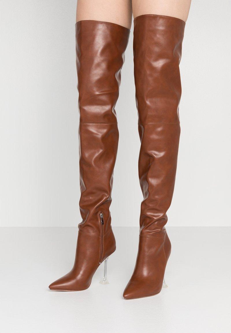 BEBO - DELTA - Laarzen met hoge hak - tan