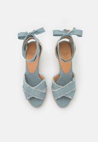 Castañer - BLUMA  - Platform sandals - water blue - 5