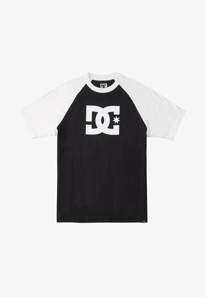 STAR RAGLAN - Print T-shirt - black/white