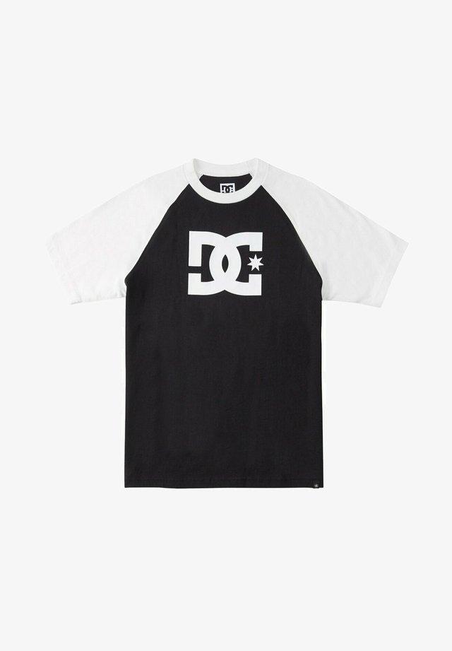 STAR RAGLAN - T-shirt print - black/white