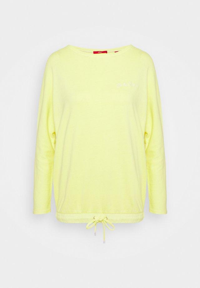 LANGARM - Sweatshirt - lime yellow