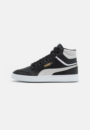 SHUFFLE MID UNISEX - High-top trainers - black/gray violet/team gold/white