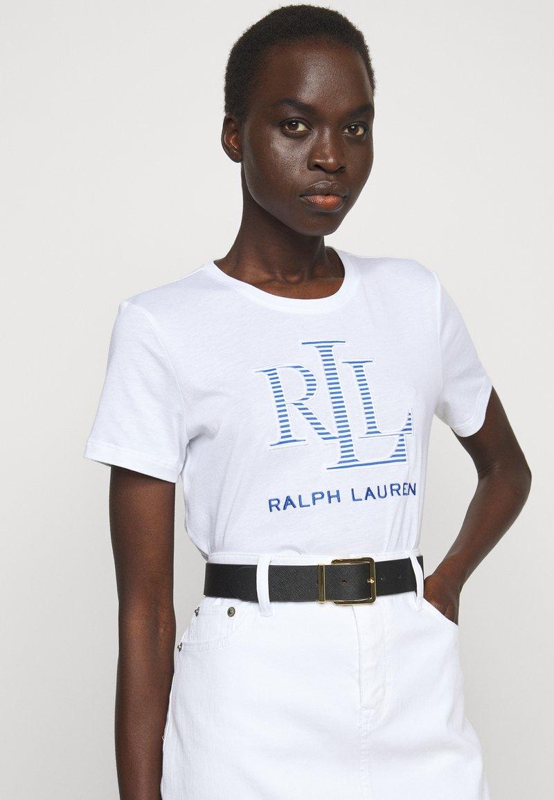Lauren Ralph Lauren - SQUARE CASUAL WIDE - Cinturón - black/tan