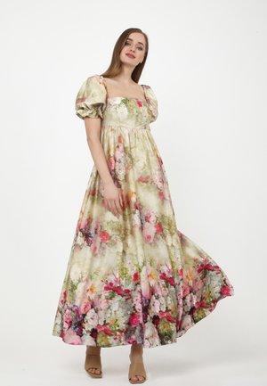AMORESSA - Maxi dress - olive, pink