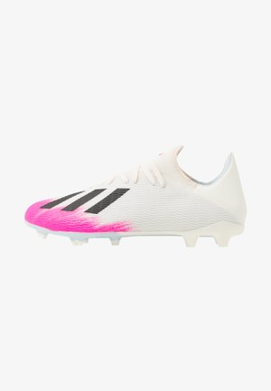 X 19.3 FG - Moulded stud football boots - footwear white/core black/shock pink