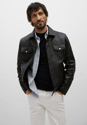 GLOBE - Leather jacket - noir