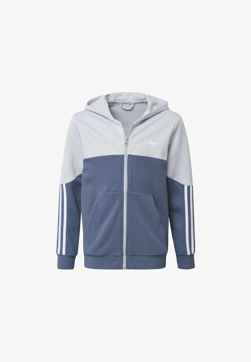 adidas Originals - OUTLINE HOODIE - Felpa aperta - grey