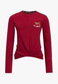 WE Fashion - MET OVERSLAGDETAIL - Longsleeve - red - 2