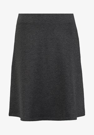 A-line skirt - dark grey melange