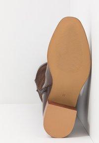 Anna Field - LEATHER BOOTS - Støvler - dark brown - 6