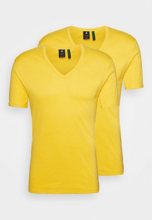BASE V T 2 PACK - T-shirt basic - yellow cab