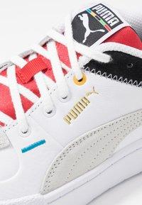 Puma - CALI SPORT - Trainers - white/black/high risk red - 2