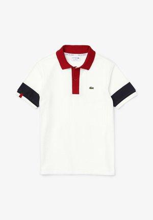 Polo shirt - weiß / navy blau / burgunder / weiß