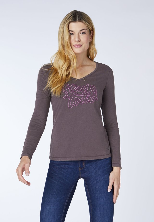 LOUNA - Long sleeved top - raisin