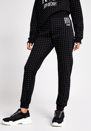 DIAMANTE EMBELLISHED  - Tracksuit bottoms - black