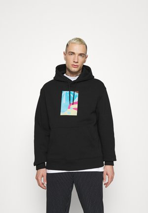 PHOTO INSPIRE PRINT HOOD - Hoodie - black