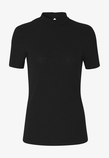 PCKYLIE T NECK - T-shirt - bas - black