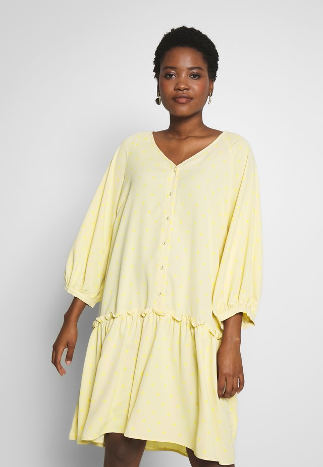 BROLC DRESS - Shirt dress - jojoba yellow
