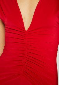 Club L London - BACKLESS RUCHED FRONT SPLIT MAXI DRESS - Suknia balowa - red - 5