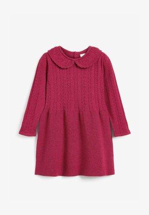 FRILL COLLAR - Jumper dress - berry