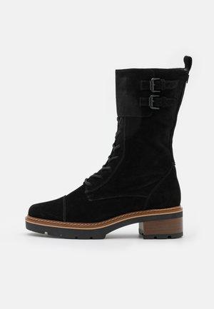 SOLID - Platform boots - schwarz