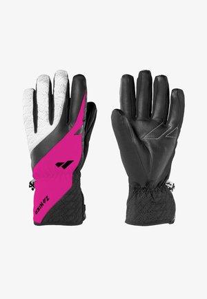 Gloves - schwarz - fuchsia