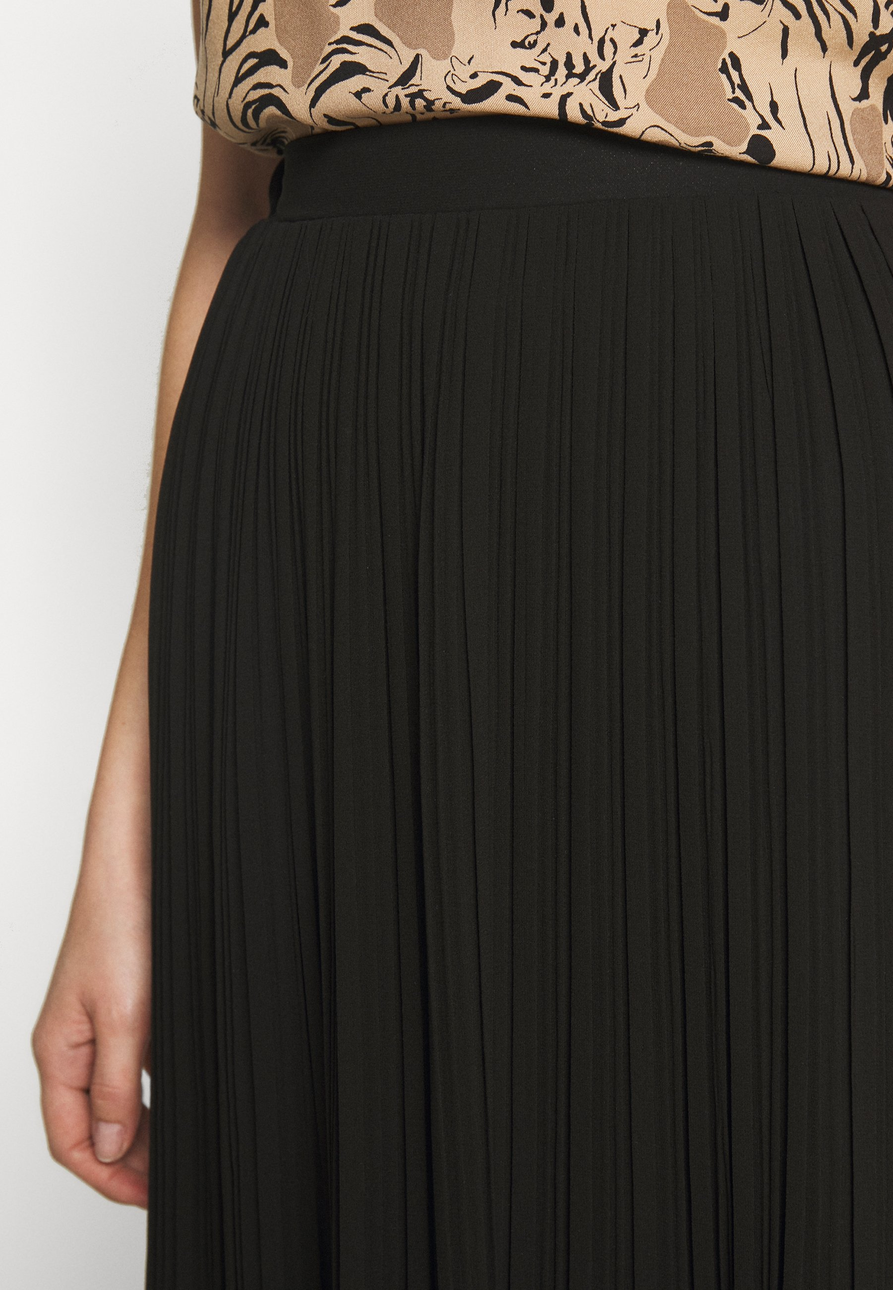 New Look PLEATED - A-line skjørt - black