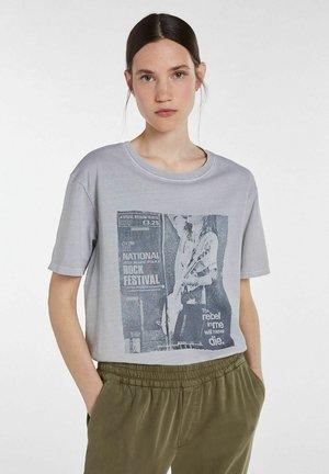Print T-shirt - light grey