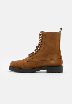 ALLY  - Lace-up ankle boots - cognac