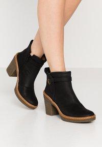 El Naturalista - HAYA - High heeled ankle boots - pleasant black - 0
