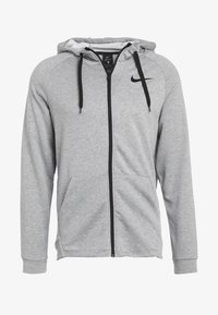Nike Performance - Huvtröja med dragkedja - dark grey heather/black - 4