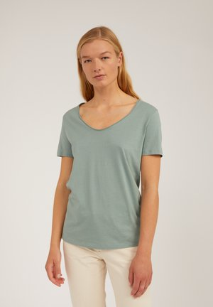 HAADIA - Basic T-shirt - eucalyptus green