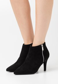 New Look Wide Fit - WIDE FIT BARETHA - High heeled ankle boots - black - 0