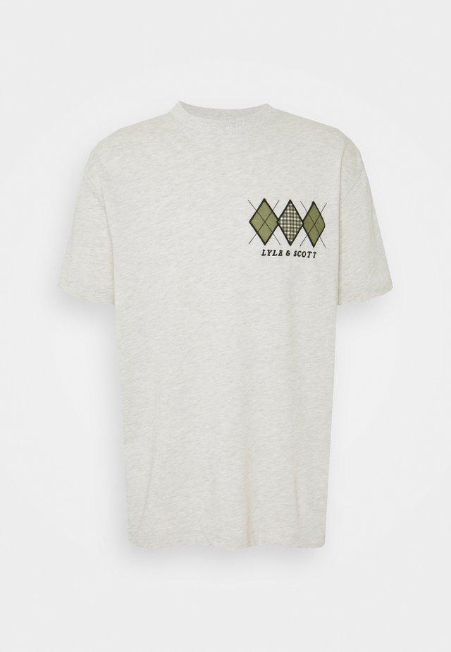 DIAMOND APPLIQUE - T-shirt z nadrukiem - vanilla ice marl