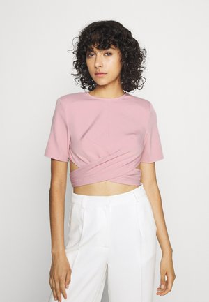 RUCHED CROSS FRONT - Camicetta - pink