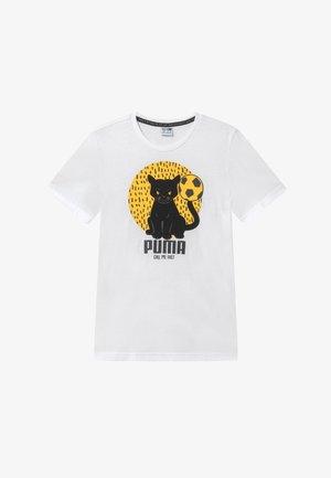 ANIMALS TEE - T-shirt imprimé - white