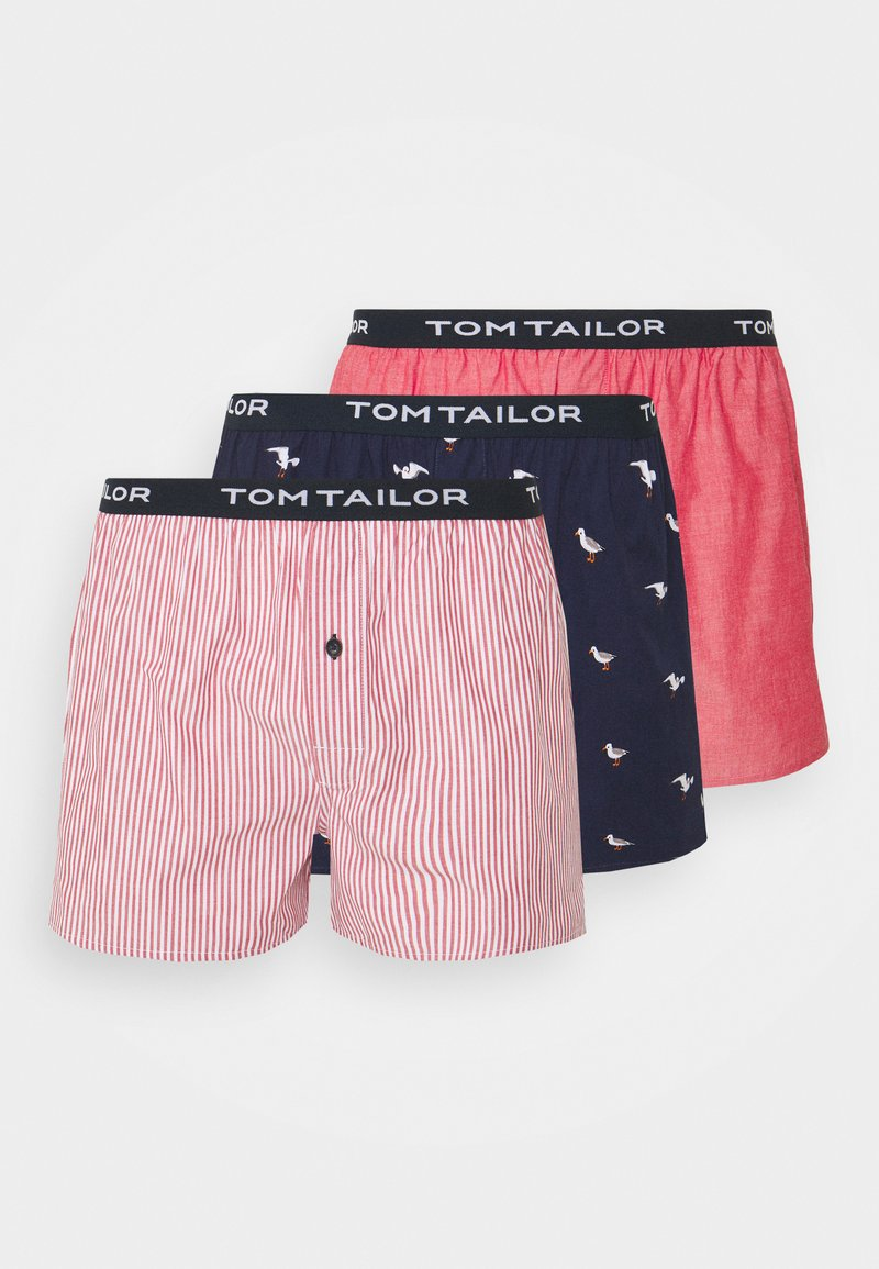 TOM TAILOR - 3 PACK - Boxer shorts - red