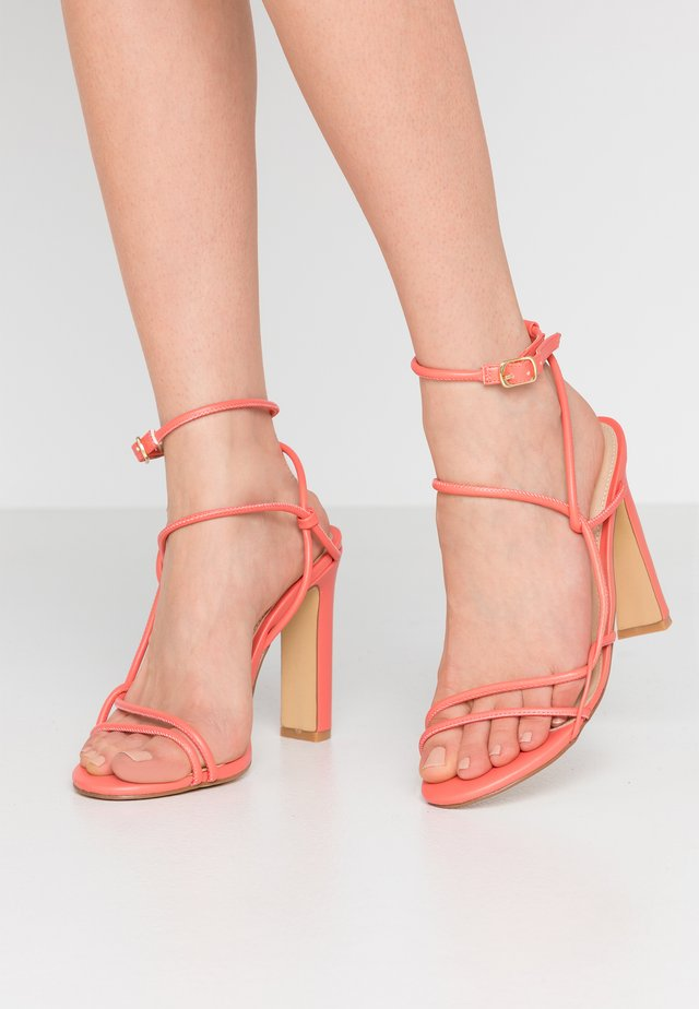 HOPE - High heeled sandals - coral
