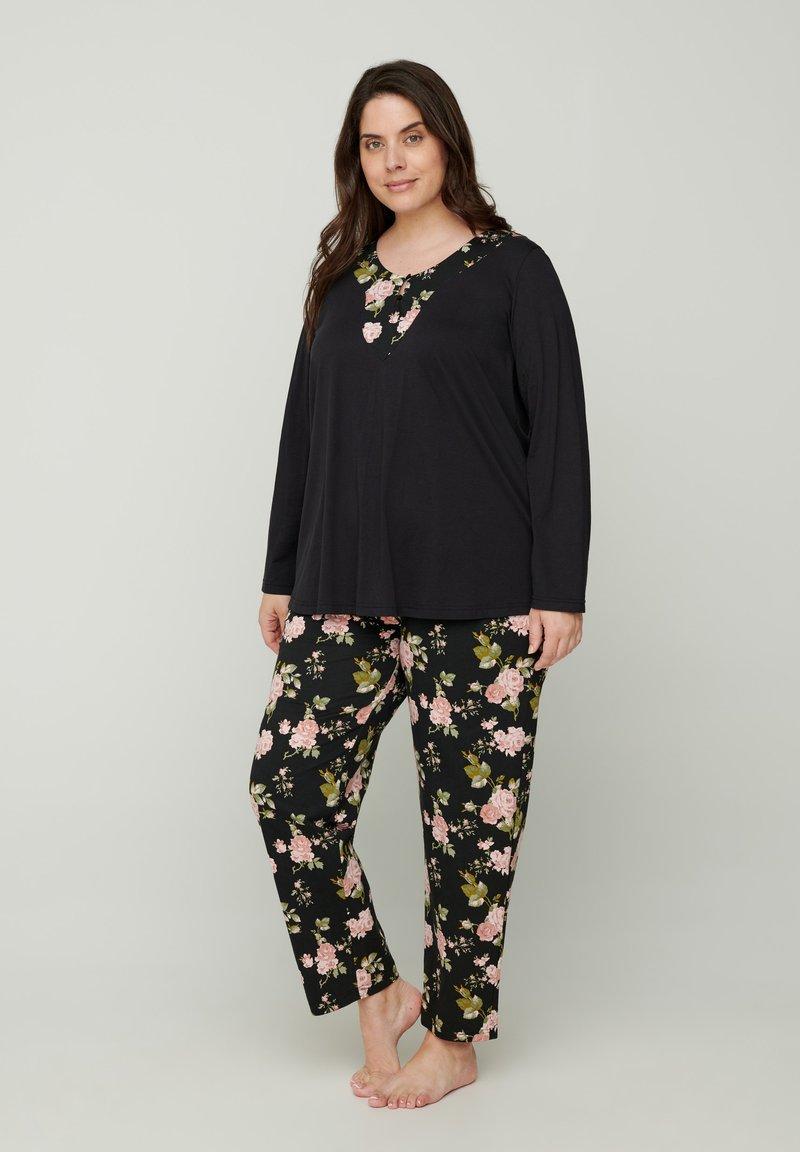 Zizzi - Pyjamashirt - black