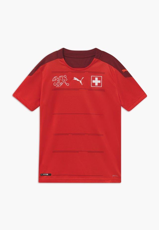 SCHWEIZ SFV HOME REPLICA - National team wear - red/pomegranate