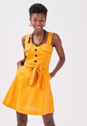 Denim dress - jaune foncé