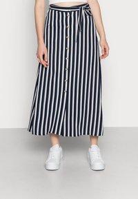Vero Moda - VMSASHA ANCLE SKIRT NOOS - A-lijn rok - navy blazer/snow white coco - 0