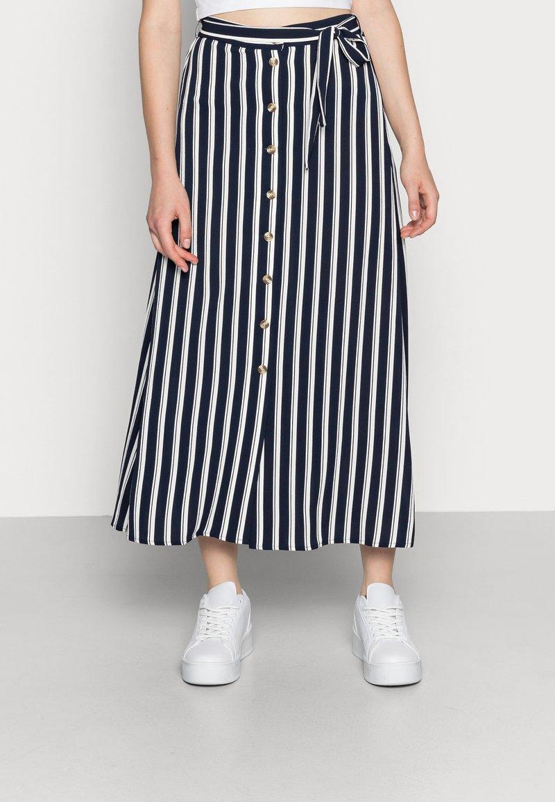 Vero Moda - VMSASHA ANCLE SKIRT NOOS - A-lijn rok - navy blazer/snow white coco