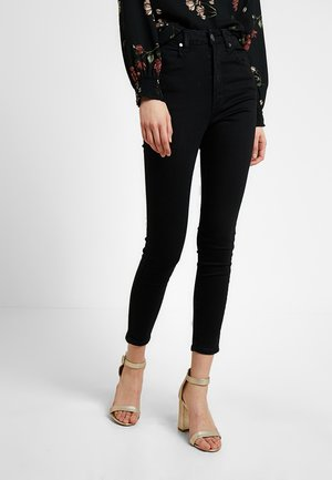 HIGH RISE CROPPED - Jeans Skinny Fit - urban black