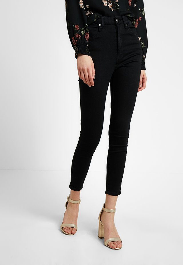 HIGH RISE CROPPED - Jeans Skinny - urban black