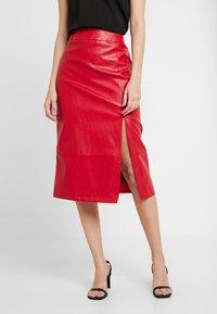 Glamorous - SKIRT - Pencil skirt - red - 0