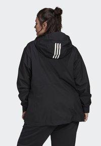 adidas Performance - BSC 3-STRIPES FOUNDATION PRIMEGREEN RAIN.RDY OUTDOOR JACKET - Waterproof jacket - black - 1