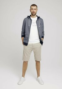 TOM TAILOR - Zip-up sweatshirt - offwhite navy stripe - 1
